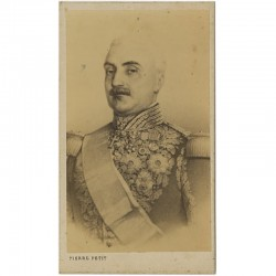 Portrait carte du Maréchal Aimable Pélissier par Pierre Petit