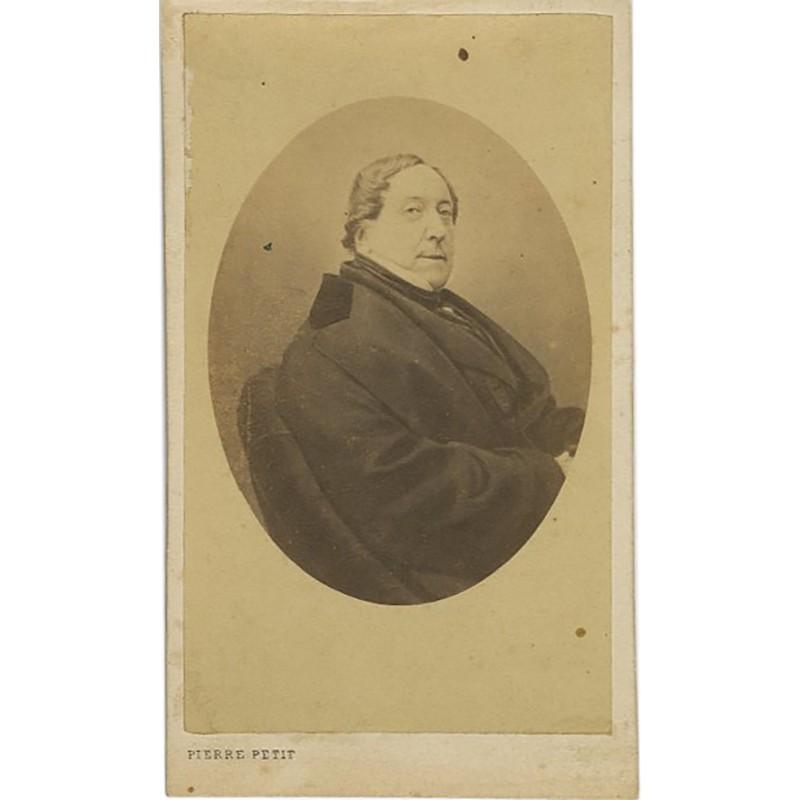 Portrait carte de Gioachino Rossini par Pierre Petit