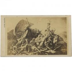 """Portrait carte du tableau de Théodore Géricault de son tableau """"Le radeau de la Méduse"""" par Pierre Petit"""