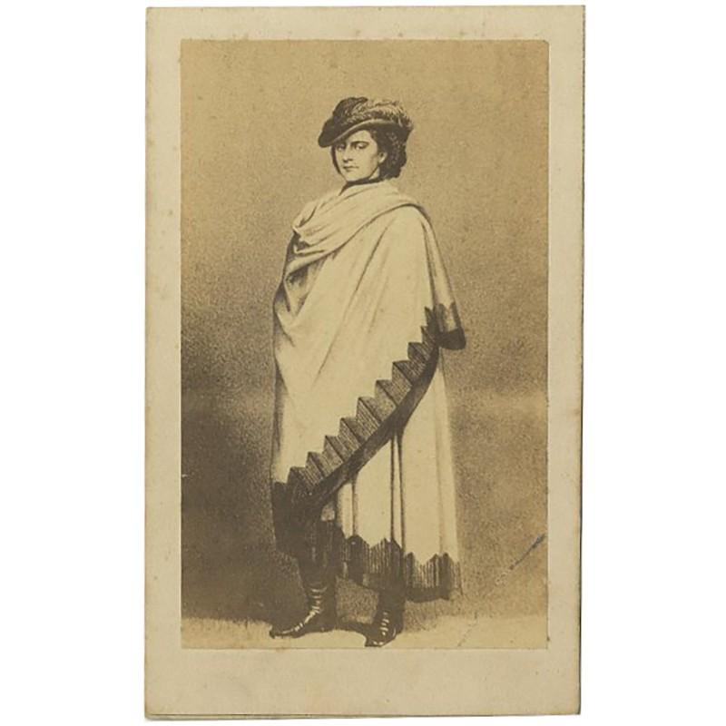 portrait carte de la Reine de Naples par H. Tournier