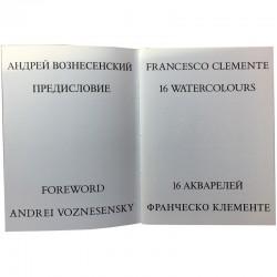 catalogue de l'exposition de Francesco Clemente à la First Gallery, Moscou, 1991