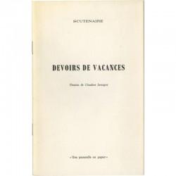 Louis Scutenaire, Claudine Jamagne, Devoirs de vacances, 1970