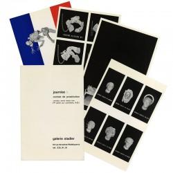 4 feuillets volants Michel Journiac insérés dans une chemise, 1973