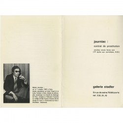 plaquette Michel Journiac éditée par la Galerie Stadler, 1973