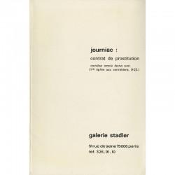 Michel Journiac, Contrat de Prostitution. Omnibus omnia factus sum, 1973