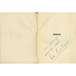 envoi à l'encre de Le Corbusier à Jean Baudry