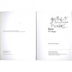exemplaire dédicacé par Erró à d'Anne Dagbert