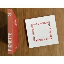 """James Pichette, le livre en accordéon """"Suite rouge"""" et son étui"""
