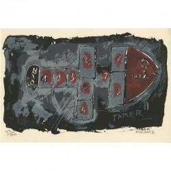 lithographie originale de Rachid Khimoune éditée par la galerie Art'O
