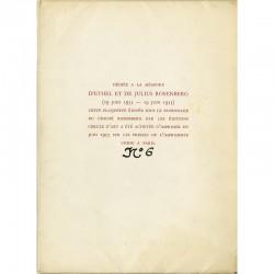 Dédiée à la mémoire d'Ethel et Julius Rosenberg exécutés pour espionnage