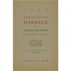 exposition de Paul Hannaux, galerie Delpierre, 1945