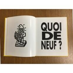 """Double page de la monographie de Speedy Graphito """"Produit de l'art"""", Editions Possible Book, 1990"""