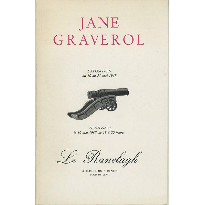catalogue de l'exposition de Jane Graverol, Le Ranelagh, 1967