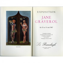 catalogue de l'exposition de Jane Graverol à la galerie Le Ranelagh, Paris, du 10 au 31 mai 1967