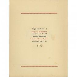 tirage amical limité à vingt-cinq exemplaires numérotés de 1 à 25