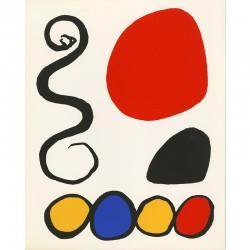 lithographie  d'Alexander Calder pour l'invitation de la galerie Denise René et Hans Mayer, Düsseldorf, 1974