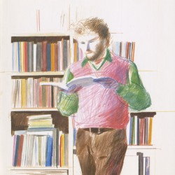 "David Hockney  ""Dessins et gravures"", à la galerie Claude Bernard, 1975"