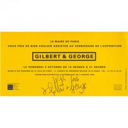 carton d'invitation de l'exposition Gilbert & George Musée d'art moderne de la ville de Paris, 1997