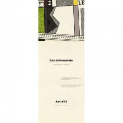 Roy Lichtenstein à Art 6'75, Kunstmesse, Basel, en juin 1975