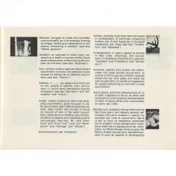 livre d'artiste, installation de Barbara Howard, index de Martha Hawley