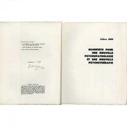 """Un des 50 exemplaires sur vélin d'Arches numérotés et signés par Isidore Isou, celui-ci numéroté """"hors commerce""""'"""