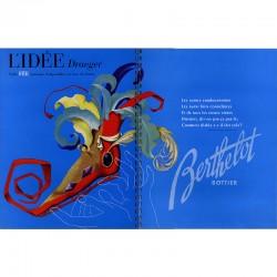 une planche publicitaire réalisée par l'atelier de création de la société Draeger Frères imprimeurs, 1947