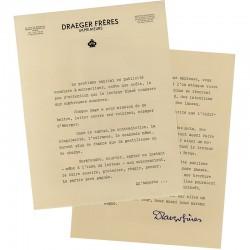 courrier de Draeger Frères