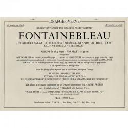 """collection """"Musées des grandes architectures"""", de Draeger-Verve (Tériade), consacré à Fontainebleau"""