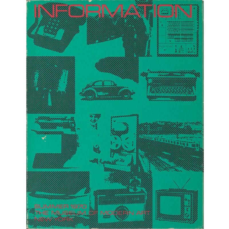"""couverture du catalogue de l'exposition """"Information"""" au MOMA, 1970"""