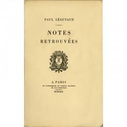 Paul Léautaud, Notes retrouvées, 1942