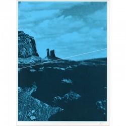 """Sérigraphie originale de Jacques Monory extraite du livre """"USA 76. Bicentenaire Kit"""" de Michel Butor et Jacques Monory"""