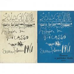 reproduction d'une affiche de Pablo Picasso, catalogue d l'association Hollar, Prague, 1965