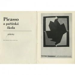 reproduction d'une affiche de Vasarely, catalogue de Sčug Hollar, Praha, 1965