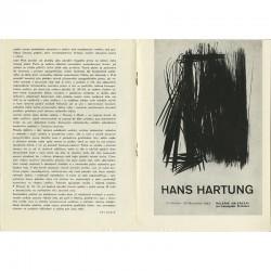 texte de Jiří Siblík et affiche de Hans Hartung
