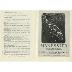 reproduction d'une affiche de Manessier, catalogue de l'association Hollar, Prague, 1965
