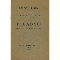 catalogue de l'exposition Picasso, chez Paul Rosenberg, 1936