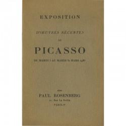 catalogue de l'exposition Picasso, chez Paul Rosenberg, 1936