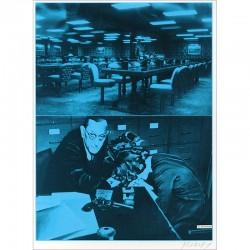 """Sérigraphie de Jacques Monory extraite du livre """"USA 76. Bicentenaire Kit"""" de Michel Butor et Jacques Monory"""