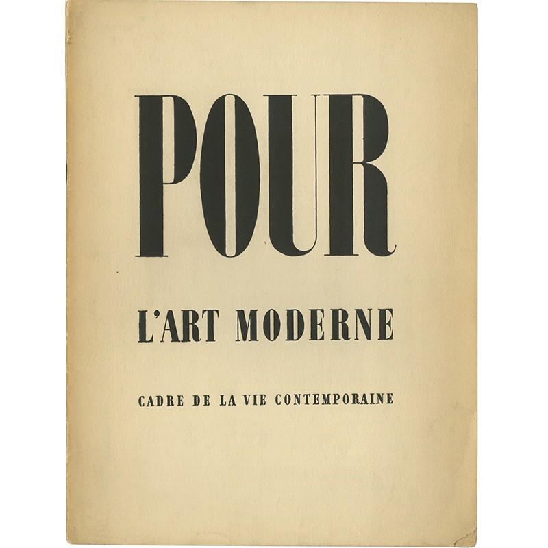 U.A.M. Pour l'art moderne, cadre de la vie contemporaine, 1934