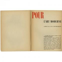 Pour l'art moderne, cadre de la vie contemporaine, plaquette éditée par l'Union des Artistes Modernes en 1934