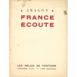 Aragon, France écoute, Revue Fontaine, 1944