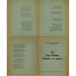 Deuxième édition de ce poème de guerre d'Éluard, publiée en 1944 par les éditions des Francs-Tireurs Partisans Français du Lot