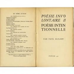 """Eluard, série """"Poésie 42"""", Pierre Seghers éditeur (Villeneuve-lès-Avignon), 1942"""