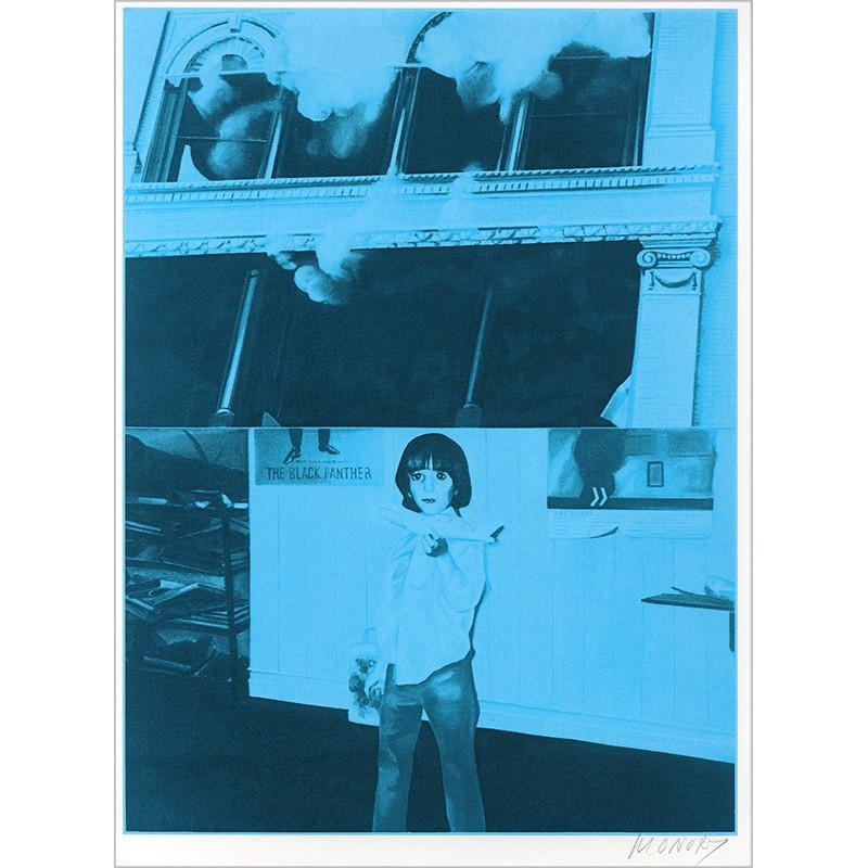 """Sérigraphie originale """"Antoine"""" de Jacques Monory extraite du livre """"USA 76. Bicentenaire Kit"""" de Michel Butor et Jacques Monory"""
