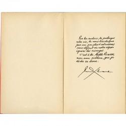 Paul Éluard, texte manuscrit en introduction dédié à Picasso