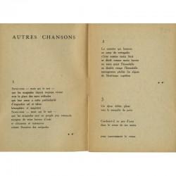 """poème """"Autres Chansons """" de Fernand Marc, Deuxième Cahier de Habitude de la Poésie, éditions G.L.M., 1937"""