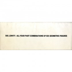 recto du livre de Sol Lewitt : All four part combinations of six geometric figures