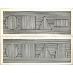 """Intérieur de """"All four part combinations of six geometric figures"""", un livre de Sol Lewitt"""