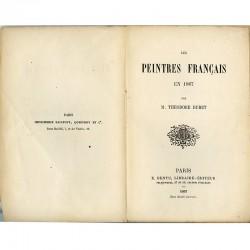 Edition originale du livre de Théodore Duret, Peintres français en 1867