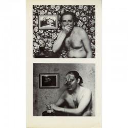"""diptyque d'Urs Lüthi """"Autoportraits (série de 9)"""", 1975"""